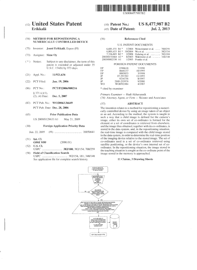 Image of Patent US 8,477,987