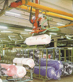 Image of Artifical fur roll flexible palletizing robot